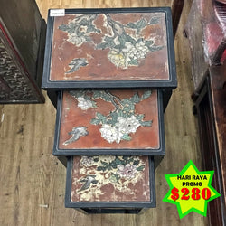 HARI RAYA PROMO: NEST OF VINTAGE TABLE - (Kallang Bahru)
