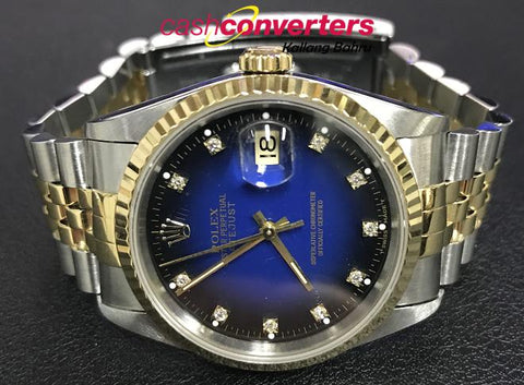 ROLEX 16233 MEN'S WATCH with VIGNETTE BLUE DIAL (Kallang Bahru)