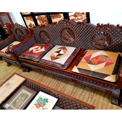 SALE!! TEAKWOOD LIVING ROOM SET W/ INTRICATE CARVINGS - (Kallang Bahru)