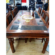 CARVED SOLID WOOD DINING SET - (Kallang Bahru)