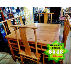 CLEARANCE: Solid Wood Dinning set - (Kallang Bahru)