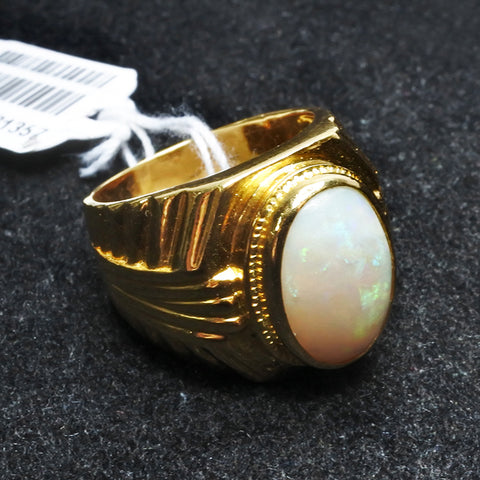 916 Yellow Gold Opal Ring (Toa Payoh)