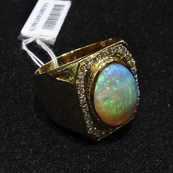 850 Opal Ring With Diamonds (Jurong)