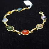 750 Yellow Gold with Assorted Stones Bracelet (Jurong)