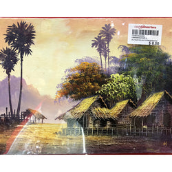 CANVAS OIL PAINTING - HUT/MOUNTAIN (Toa Payoh)