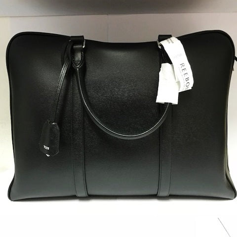 Tods Black Lether Document Bag (Jurong)