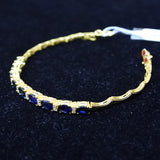 750 Yellow Gold Sapphire With Diamonds Bracelet (Jurong)