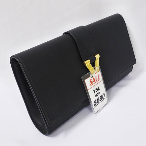 half price watch new products YSL Black Clutch (Chinatown)