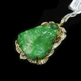 18K Yellow Gold A Jade With Diamonds Pendant (Tampines)