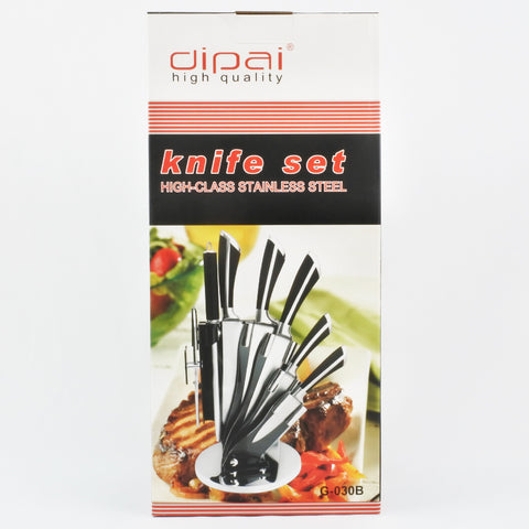 6PC KNIFE SET WITH STAND (Selected Stores)
