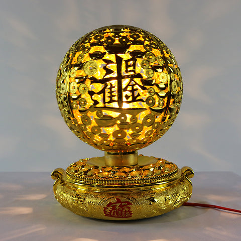 Golden Ball Rotary Lamp (Red Saga Seed)