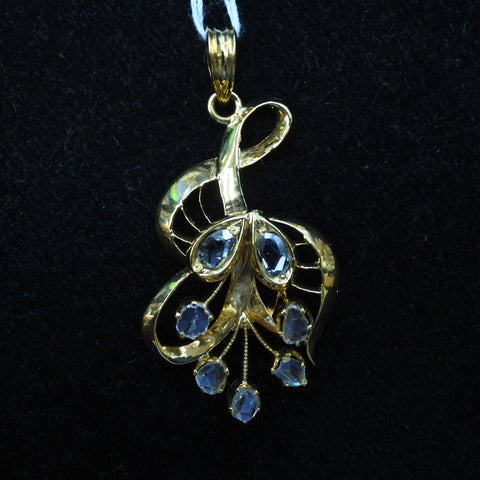 Yellow Gold With Diamonds Intan Pendant (Jurong)