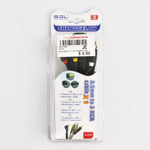 3.5mm to 3 DC RCA CABLE (Selected Stores)
