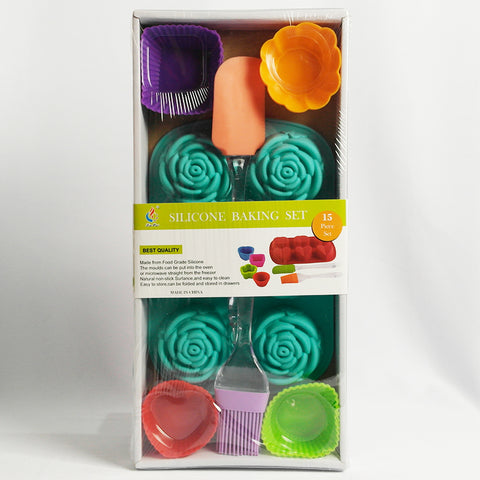 Silicon Baking Set - 15 Pcs (Selected Stores)