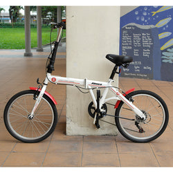 Aeoca Foldable White Red Bicycle (Toa Payoh)