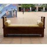 TEAK WOOD BENCH W DRAWERS (Toa Payoh)