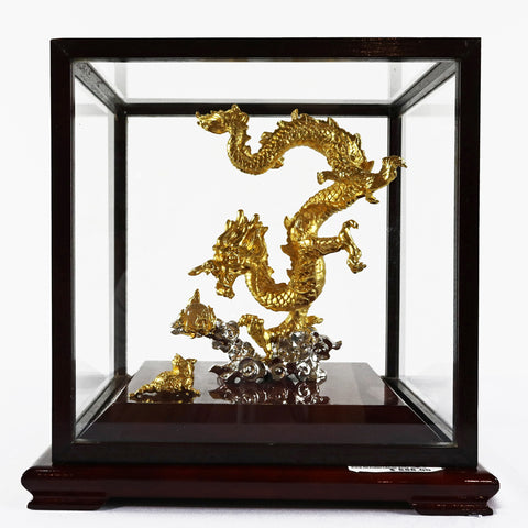 RISIS Gold Plated Dragon with Case (Red Saga Seed)