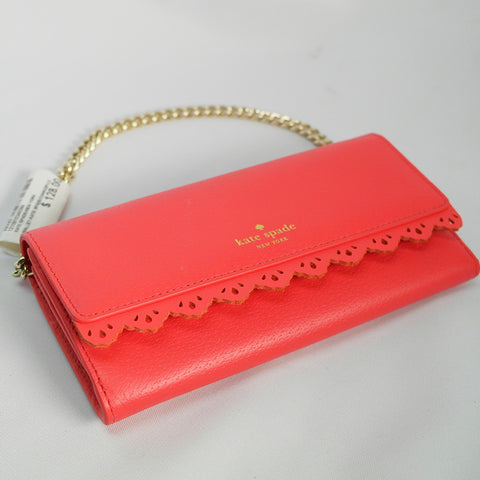 Pink Kate Spade Wallet with Gold Chains (Toa Payoh)