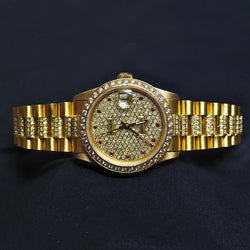 Yellow Gold Diamond Bezel Bracelet Rolex Watch (Kallang Bahru)
