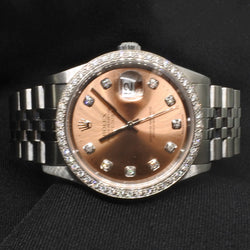 Rolex Diamond Bezel Brown Dial Watch (Toa Payoh)
