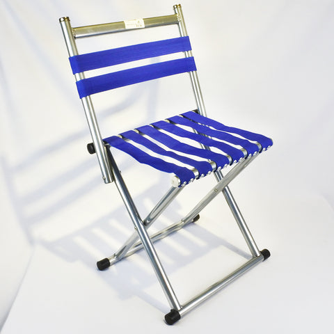 FOLDABLE BLUE STRAP CAMPING CHAIR (Selected Stores)