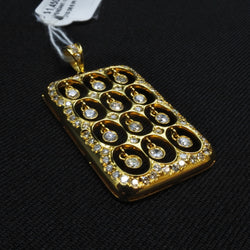 14K Yellow Gold Diamond Pendant (Chinatown)