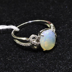 750 White Gold Opal Ring With Diamonds (Jurong)