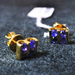 750 Yellow Gold Sapphire Earrings (Kallang Bahru)