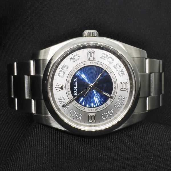 Rolex Mens Oyster Perpetual Blue-White Dial Watch (Toa Payoh)