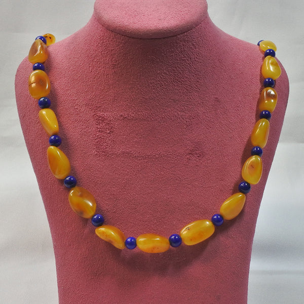 Amber With Lapis Beads (Chinatown)