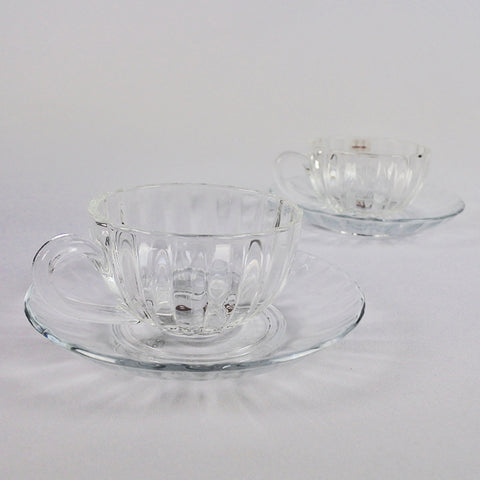 12 PCS GLASS COFFEE & SAUCER SET (Selected Stores)