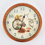WOOD GRAIN DESIGN ROUND WALL CLOCK (Selected Stores)