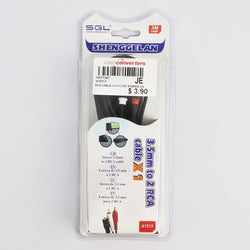 3.5MM TO 2 RCA CABLE (Selected Stores)