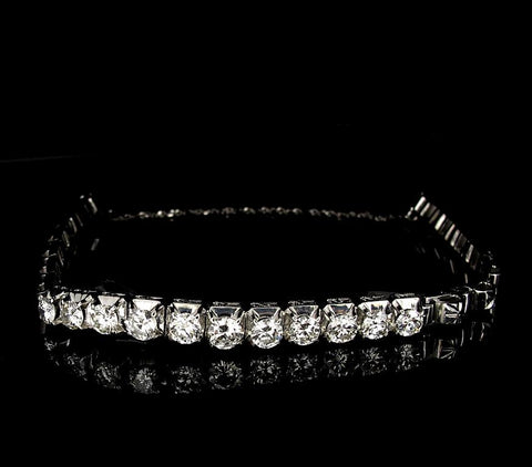 18K White Gold Bracelet with Diamonds (Toa Payoh)