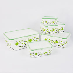 5 PCS NESTING POLKA DOTS FOOD CONTAINER SET (Selected Stores)