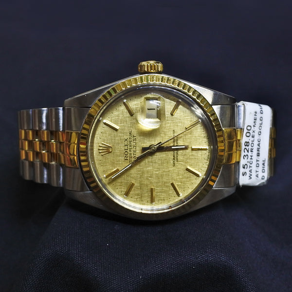 Gold Dial Bracelet Rolex Watch (Kallang Bahru)