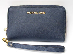 ONLY AVAILABLE AT OUR BEDOK OUTLET - Michael Kors ladies Blue Wristlet/ purse