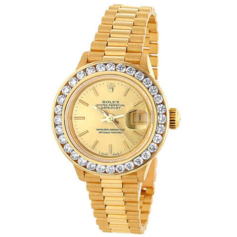 ONLY AVAILABLE OFFLINE - Gold Tone Rolex Ladies Watch in 18K Yellow Gold