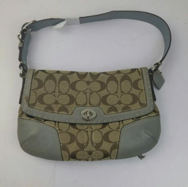 SPECIAL BUY: Coach Small Shoulder Bag Grey with monogram