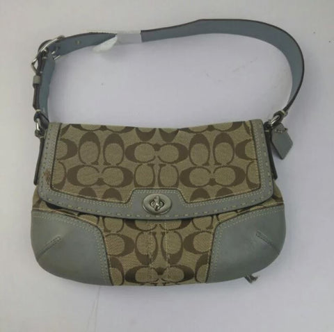 SPECIAL BUY  Coach Small Shoulder Bag Grey with monogram – Cash ... 9a28eafed1806