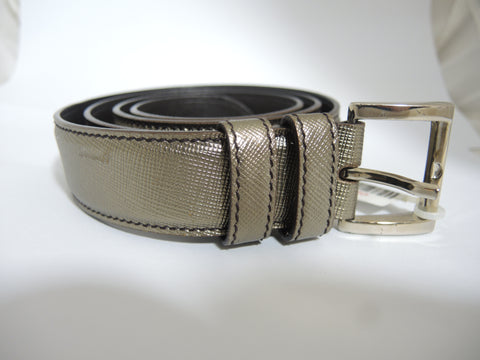 ONLY AVAILABLE AT OUR KALLANG BAHRU OUTLET - PRADA BELT (GOLD)