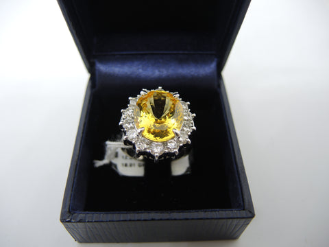 ONLY AVAILABLE AT OUR CHINATOWN OUTLET - YELLOW SAPPHIRE & DIAMOND RING
