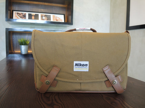 ONLY AVAILABLE AT OUR TAMPINES OUTLET - NIKON BROWN CAMERA BAG
