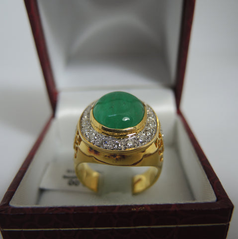 ONLY AVAILABLE AT OUR KALLANG BAHRU OUTLET - EMERALD DIAMOND RING
