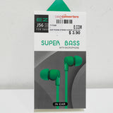 Brand New EZRA Super Bass In-Ear Earphone in Mint Green
