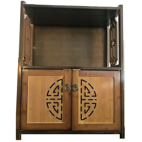 SALE!!BAMBOO/ WALNUT 2 DOOR CABINET - (Kallang Bahru)