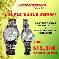 COUPLE HALF GOLD ROLEX WATCH PROMO - (Kallang Bahru)