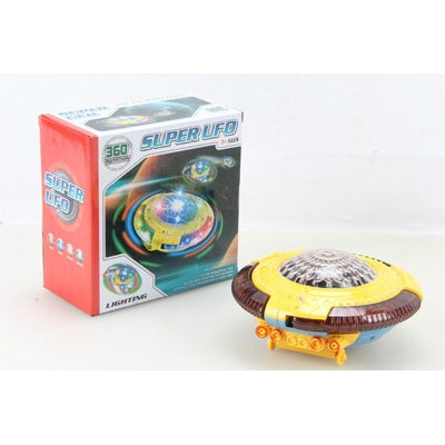 BRAND NEW BATTERY OPERATED ANIMATED SUPER UFO (AGES 3+)