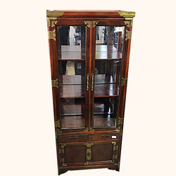 SALE!! WOODEN DISPLAY CABINET WITH GLASS - (Kallang Bahru)