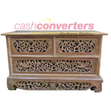 CARVED SIDE TABLE WITH DRAWERS - (Kallang Bahru)